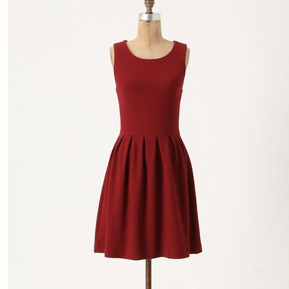 47d6a92b Anthropologie Dresses | Ganni Night Noon Textured Fit Flare Dress Xs ...
